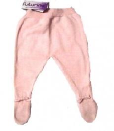 Ползунки вязаные розовые со следом  100% хлопок на рост 56 см, 62 см