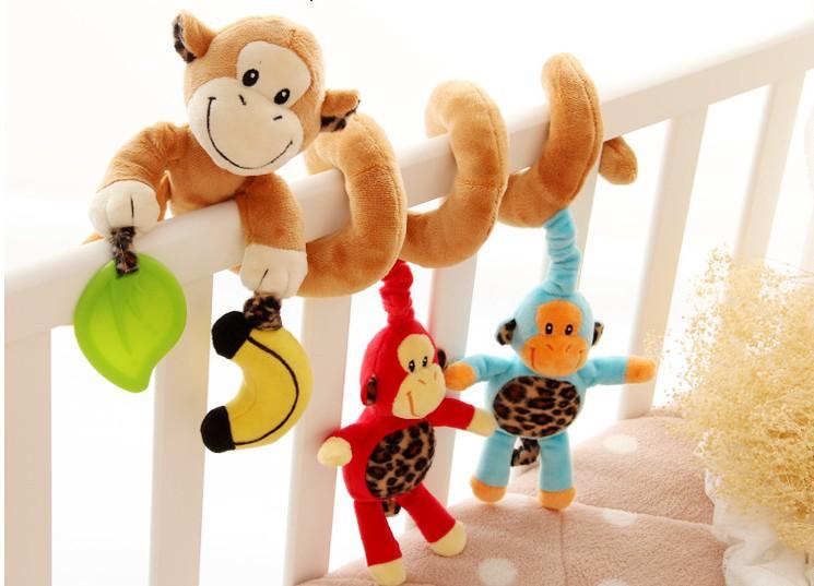 """Плюшевая спираль с подвесными игрушками """"Обезьянки"""" , Sozzy"""