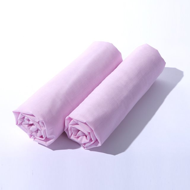 "Простынь  натяжная ""Ксели"" розовая, 60х120 см, R baby, Франция"