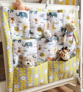 """Органайзер на детскую кроватку """"Животные"""", размер 60Х50 см"""