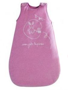 Конверт,  кокон-пеленка  «Зайка» велюровый  с вышивкой, утепленный, розовый,  Франция