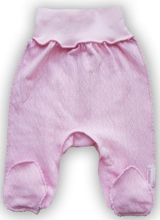 """Штанишки со следом  """"Ажур"""" Розовый из интерлока,  шов мережка, на рост  46 см, 50 см"""