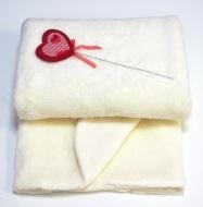 Плед  на выписку утепленный на подкладке из 100% хлопка,  экрю,  размер 85х100 см
