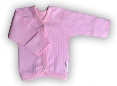 "Кофточка ""Ажур"" Розовая, интерлок,  шов мережка, на рост ребенка  42 см, 46 см, 50 см"