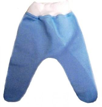 Ползунки голубые из футера на рост 42 см
