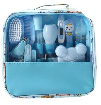 Набор по уходу за младенцем из 13 предметов, голубой