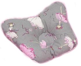 Ортопедическая подушка-бабочка для новорожденного, балерина, 0-6 мес.
