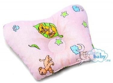 Ортопедическая подушка-бабочка для новорожденного, львята, 0-6 мес.