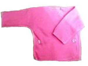 Распашонка розовая из футера на рост  46 см