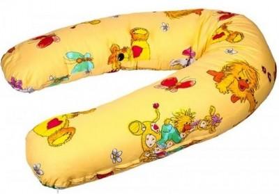 """Подушка-бумеранг для будущих и кормящих мам """"Радость"""", зоопарк  на желтом, 190*40 см."""