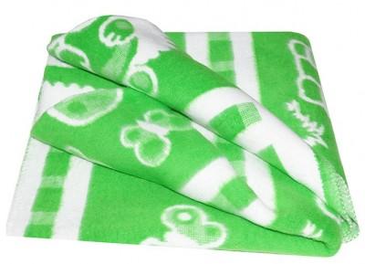 """Одеяло байковое жаккардовое """"Ермошка"""", цвет: зеленый , 100x118 см, Модель 57-6ЕТЖ"""