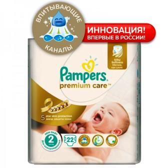 Подгузники Pampers Premium Care 2 (3-6 кг ) 22 шт.