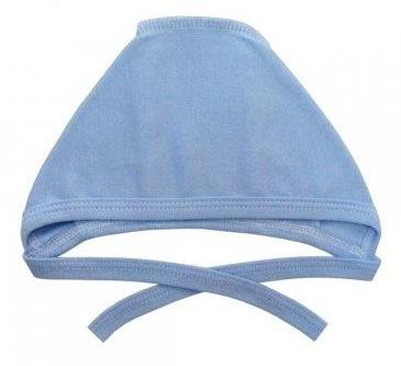 Чепчик из интерлока голубой  на рост ребенка 38 см, 42 см, 46 см