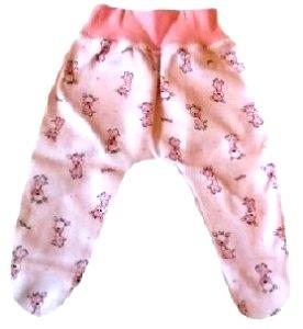 Ползунки из интерлока розовые на рост  42 см