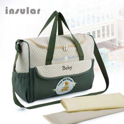 Многофункциональная сумка Insular Baby для мамы,  сумка для пеленок, сумка  на коляску
