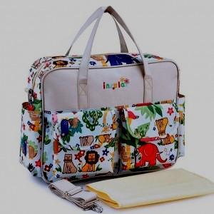 Многофункциональная сумка Insular ZOO для мамы,  сумка для пеленок, сумка  на коляску