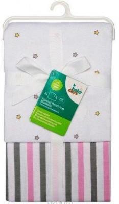 """Комплект пелёнок """"Звёздочка"""" Babydays (фланель) 2 шт. в подарочной упаковке, розовый, 76 смх76 см,"""