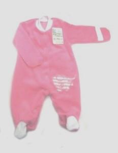 Комбинезон из велюра розовый с вышивкой   на рост 46 см