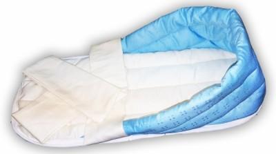 Гнездо голубое  для недоношенных детей из интерлока с лямками,  0.8-1.5 кг
