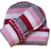 Комплект для девочки  из кашкорсе шапочка и пинетки , на рост 42 см, 46 см