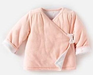 """Кардиган велюровый, утепленный, розовый """"Ангел"""",  на рост 50 см,  R mini, Франция"""