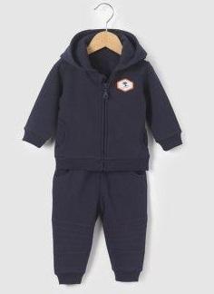 Спортивный костюм утепленный  из мольтона  с начесом на рост 46-48 см , Cocoon, Франция