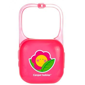 """Контейнер для пустышки малиновый  """"Цветок"""", Canpol Babies"""