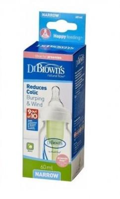 Бутылочка Dr.Brown's Options стандартная 60 мл для недоношенных детей,  соска медленный поток