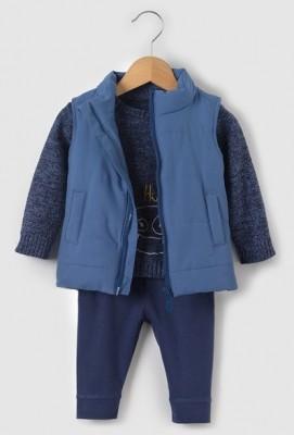 Комплект: пуловер, жилет пуховик и леггинсы, на рост 50-52 см,  R mini, Франция