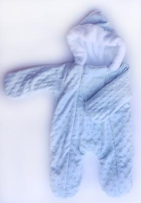 """Комбинезон  """"Уют"""" Голубой  утепленный с капюшоном,  на рост 46 см"""