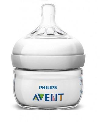 Бутылочка для кормления Philips Avent  Natural,  60 мл 1 шт., соска  очень медленный поток