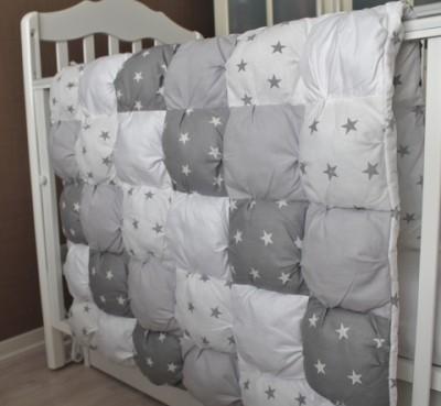Одеяло Bombon серое звезды, 110*80см