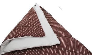 Утепленное простеганное одеяльце «Горошинка», 73х97см