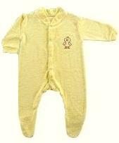 Комбинезон-слип желтый с вышивкой,  рукав-трансформер , 50 см(  tiny baby), Mothercare