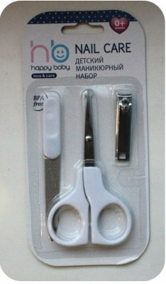 Маникюрный набор Happy Baby Nail Care  с 0 мес., белый