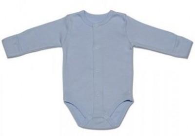 Боди из интерлока  голубое для мальчика,  на рост  50 см
