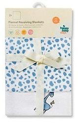 """Пеленки фланелевые Babydays  """"Жирафики"""" голубые 2 шт. в подарочной упаковке, 76х76 см"""