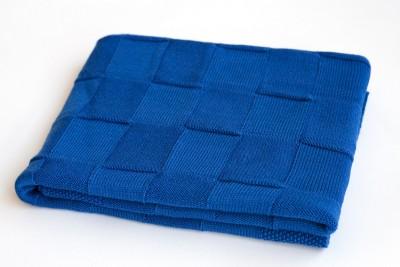 Плед детский синий из 100% мериносовой шерсти Dr.Wool, 95 х 95 см