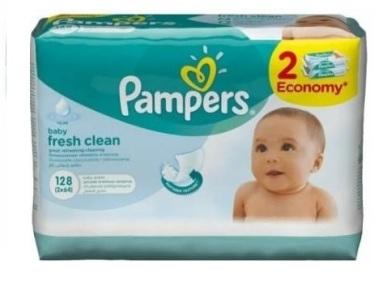 Детские влажные салфетки  Pampers Baby Fresh Clean, 128 шт