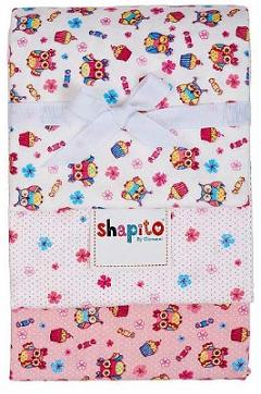 "Набор фланелевых пеленок Giovanni Shapito  ""Совята"", 120х90, 3 шт."