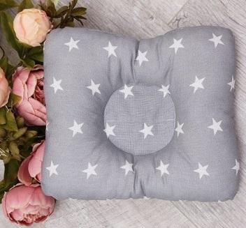AmaroBaby Подушка для кормления и сна Baby Joy Звездочка, размер 24х26 см, серая