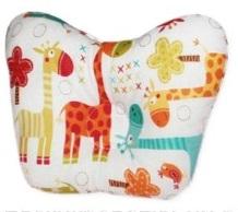 Ортопедическая подушка-бабочка для новорожденного, жирафики, 0-6 мес.