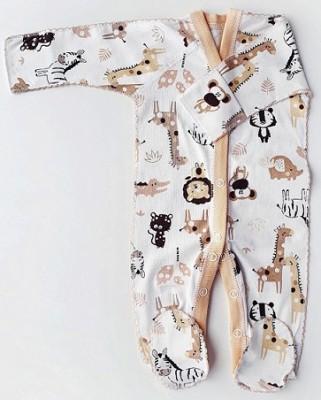 """Комбинезон """"Африка""""  из трикотажного полотна, 100% хлопок, шов мережка,  на рост  42 см"""