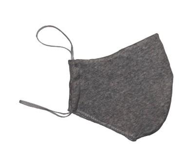 Маска двухслойная с карманом, серая, 100% хлопок, размер подростковый