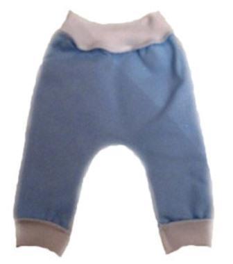 Штанишки без следа голубые из футера на рост 38 см, 42 см
