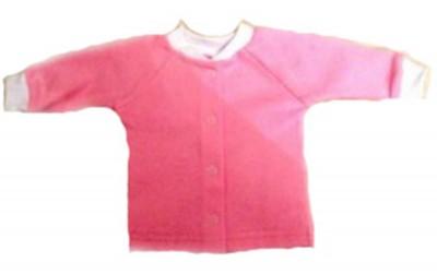 Кофточка розовая из футера  с начесом на рост 42-44 см