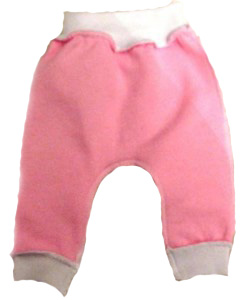 Штанишки без следа розовые из футера на рост 42 см