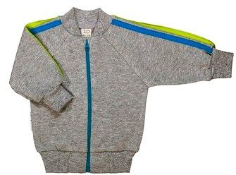 Куртка Lucky Child из интерлока на молнии для мальчика, Спортивная серия, на рост 56 см