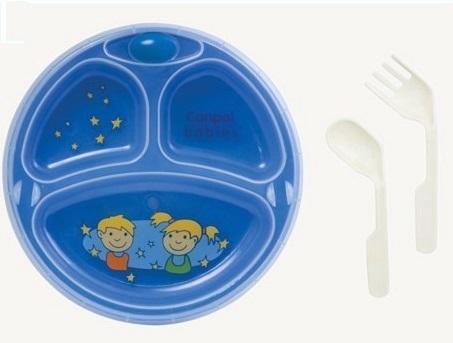 Термотарелка Canpol Babies с присоской (голубая)