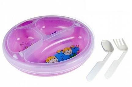 Термотарелка Canpol Babies с присоской (розовая)
